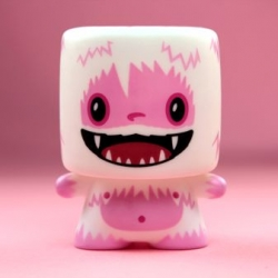 Love Yeti Mini Marshall - more valentine's day toys, this time from  64 Colors for Squibbles Ink + Rotofugi.