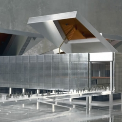 1st the Water Cube in Bejing and now the Magic Box in Madrid.  The size and scope of the retractable roofs are amazing!