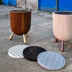 'Mangal' stool and side table by cisimdesign, first exhibited during Milan Design Week 2015 at Ventura Lambrate.