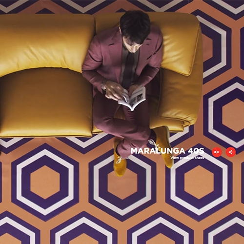 Lovely homage video and site by Cassina showcasing  their Maralunga Sofa designed in 1974 by Vico Magistretti.