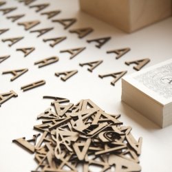 For A by Jose Gómez. A series of wooden A's in myriad of fonts.