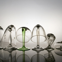Make Your Glass by Marina Dragomirova - A series of glasses split in two parts.