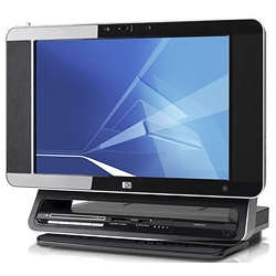is it just me, or does this look super cool?? the HP TouchSmart vista PC. Touchable screen, sleek space saving design. Very cute!