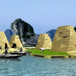 Zero emission hexagonal floating community proposed for Vietnamese bay
