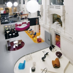 The scenery of Mobi Boom exhibition, design by Pierre Charpin.