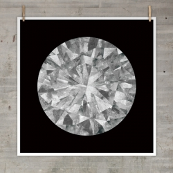 'Moon Diamond' is one of four new prints from The Best Part, depicting an image of the moon that has been dissected and reassembled to form a diamond.