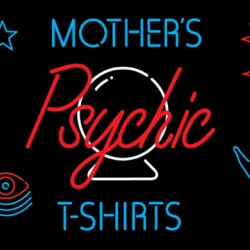 For Christmas this year, Mother's Psychic Tees. 100 blank T-shirts have been given to LA psychic Lucinda Clare, who uses her gift to predict the destiny of each future T-shirt wearer, to be printed on each tee.