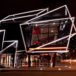 Night at the MTC's new home in Melbourne, a stylized, flamboyant and innovative space that efficiently utilizes space to create an innovative live performance environment.