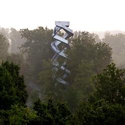 Terrain:Loenhart & Mayr - MURTURM Nature Observation Tower at the Mur river in Austria.