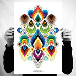Vectorfunk Rorschach Poster Series. A futuristic twist to the classic psychology ink blot tests.