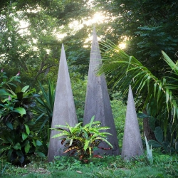 Tofer Chin's stalagmite installations at Maderas Village, Nicaragua, are not only an original addition to their natural landscape but also mark the beginning of an initiative to explore artistic collaborations among artists and spaces at the boutique hotel.