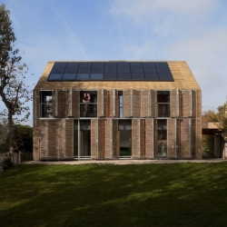 "Near Paris, French agency Karawitz Architecture has designed the first passive wooden house to be awarded the European ""Passiv Haus"" Label in France."