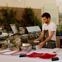 Top Chef's Marcel Vigneron and a private rooftop dinner for Kitchit's launch in Los Angeles...  Private chefs and caterers available at your own home with just the click of a button!