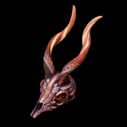 Two Icelandic artists create hand-painted 3D prints of animal skulls, just incredible, and more amazingly, unicorn skulls!