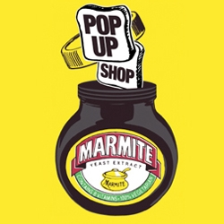 Marmite Pop Up Shop on Regent's Street in London for the Holidays - a brand that's always coming up with good ideas.