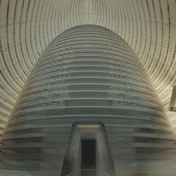 Mars Ice House, an idea by Clouds Architecture Office for a 3d-printed habitat on Mars, awarded first place by NASA.