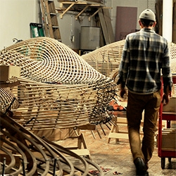 Matthias Pliessnig is an artist and furniture designer specializing in steam bent hardwoods. His process from sketching and modeling to endless clamping is fascinating.