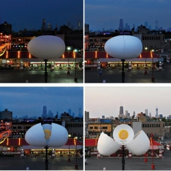 Another awesome McDonald's billboard from Leo Burnett, Chicago after their lettuce billboard (see #11231). The Giant Egg hatches each day showing that they use fresh eggs daily. Brilliant!