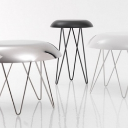 This is not an UFO, this is not a jelly fish model.  this is not an aluminum basin either, nor is it a chair. This is a coffee table, designed by GamFratesi, manufactured by Casamania.