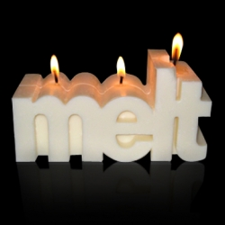 The Melt candle is 100% beeswax and designed by Harlem based studio SPYE. A percentage of sales are donated to non-profits dedicated to stopping polar ice cap melting.