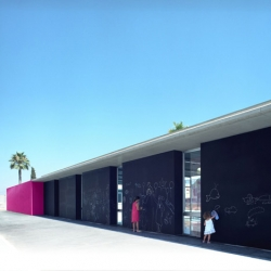 I love the blackboard walls at this school extension in Torrevieja, Spain by Dooa Arquitecturas.