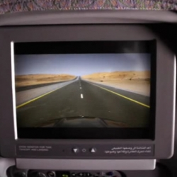 Ad aired on Emirates in-flight movie screens at exactly the same time as the plane was accelerating down the runway. It allowed viewers to watch the car screen speed up and experience the closest feeling to an actual test drive. By Impact BBDO