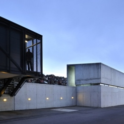 Metal recycling plant by Dekleva Gregoric Arhitekti in Pivka, Slovenia.