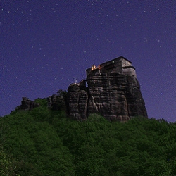 Timelapse shot at the holy rock mountains of Meteora, Greece by Alexandros Maragos.