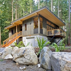 Talking about prefab house, this is a modular prefab house, a product by Method Homes.  It is called The Method Cabin.