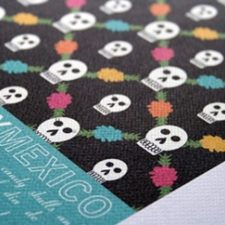 "Day of the Dead print from JHill Design's ""Places I Have Never Been"" collection."