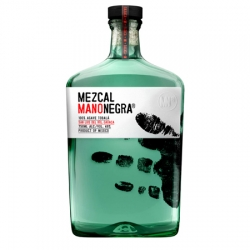 Mezcal Mano Negra called upon Mexican branding/identity firm Sociedad Anonima to re-vamp  their new bottles.