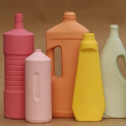 Middle Kingdom's new line of colorful porcelain cleaning product vases/bottles.
