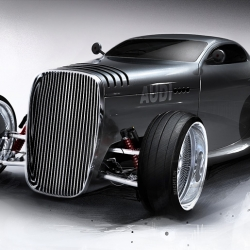 Lugnegard Studio's new Gentleman's Racer concept car for Audi brings back a classic Hot Rod look with a dash of smooth luxury!