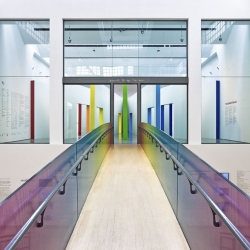 Fabio Novembre's new exhibition at The Triennale Design Museum is full of color! The artist created a 3D element to graphics in the form of a built space.