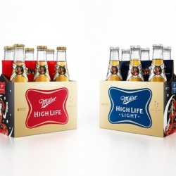 Miller High Life hopes to recapture the aspiring beer connoisseur market. The new packaging features the Miller Girl in the Moon, giving the case a sort of vintage aesthetic, while the bottles stick with a simple, classic design.