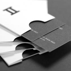 Business card design for Miner & Miner Management Consultants. Designed by Matter Strategic Design.