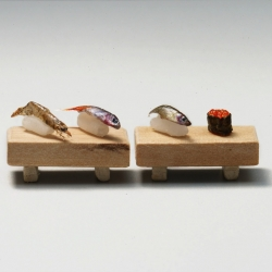 World's smallest sushi as an art project. By Dave Seah, Hwee Chong Chan and Jody Yeoh.