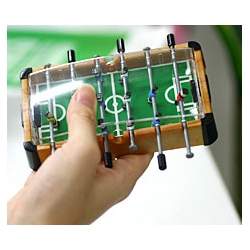 I DEFINITELY need a miniature football table!