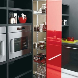 This kitchen is designed by Cesar. The designer combines three elegant colors into modern kitchen architecture.