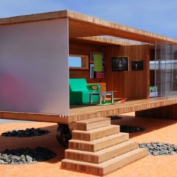 The Modularean Eco Home might be the world's smallest prefab home.  Designed by David Baker Architects, it's a green, mod dollhouse for aspiring architecture aficionados.