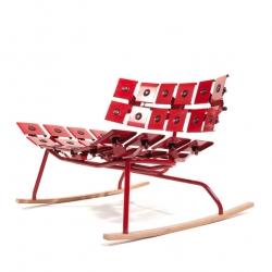 'Laubenpieper' by Tom Mudra, Hans-Tobias Schicktanz, and Marco Ziegler. Soft outdoor furniture made of steel.  TOTO design studio.