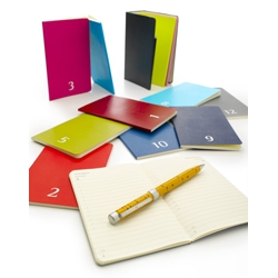 Moleskine's 2010 Monthly Planner Set. A gorgeous, compact set of 12 individual monthly planners, slim enough for a handbag or even a back pocket. Bind them up and place on a shelf when the year is done.