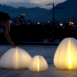 Canadian design group Molo just launched a gorgeous, fold-up honeycomb paper lamp called 'Urchin'.
