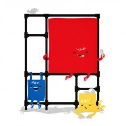 Mondrian's Playground by Philip Tseng