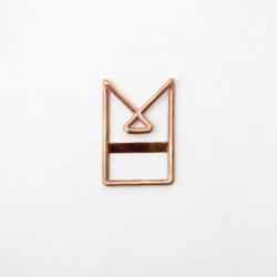 The Makemoney Clip by The Make co. Cast out of copper or Bronze, it is designer to keep your bills in place in a stylish way.