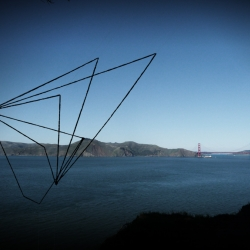 Italian artist Moneyless has created wire sculptures around San Francisco.