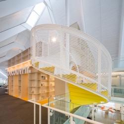 St. Denys du Plateau Church is reinvented as Monique Corriveau Library, Quebec.