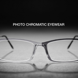 Photo chromatic eyewear by Monoqool. Changes color when exposed to daylight.