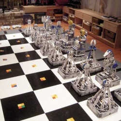 This amazing Monster Chess Set is made from 100,000 LEGO blocks. The pieces are robotic and move on their own. It was designed with the help of the LEGO company itself and took 4 people a year to construct!