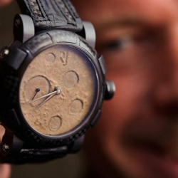 Swiss watchmaker Romain Jerome has designed the watches which made from moon dust, parts of the Apollo 11 rocket and bits of spacesuits.